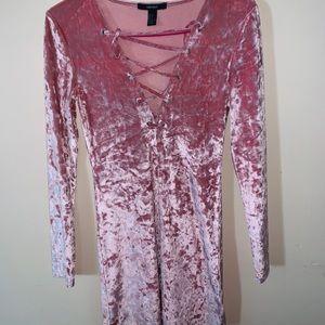 Forever 21 Dresses - Velvet Pink Blush Dress